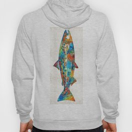 Fish Art Print - Colorful Salmon - By Sharon Cummings Hoody