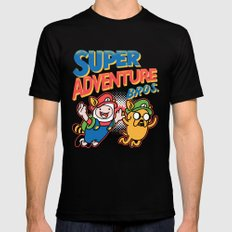 Super Adventure Bros LARGE Black Mens Fitted Tee