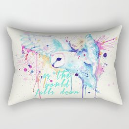 As The World Falls Down Owl Rectangular Pillow