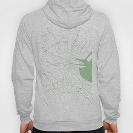 White on Green Dublin Street Map Hoody