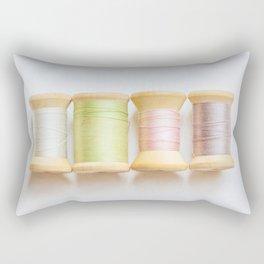 Pastel Spools of Vintage Thread Rectangular Pillow