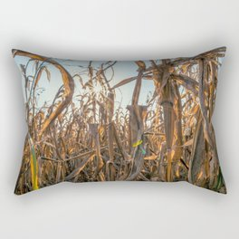 Corn field at sunset in the countryside of Lomellina Rectangular Pillow