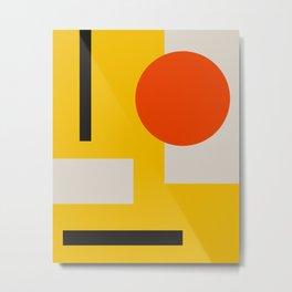 geometry abstract yellow Metal Print
