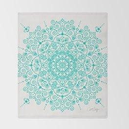 Moroccan Mandala – Turquoise Palette Throw Blanket