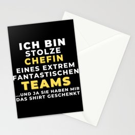 Ich bin stolze Chefin des besten Teams Stationery Cards