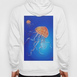 Jellyfish, Oil painting by Faye Hoody