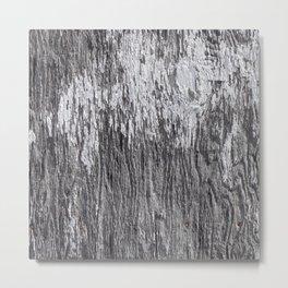 White Barn Wood Metal Print