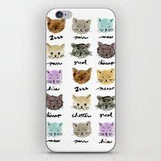 Kitty Language iPhone & iPod Skin