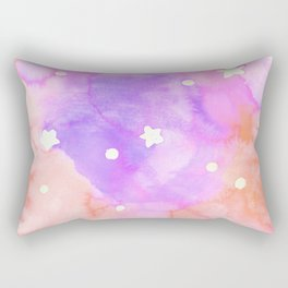 Starry Sky Raspberry Milkshake Rectangular Pillow