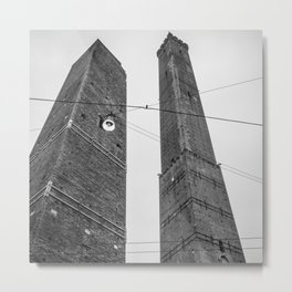 Beautiful view in the medieval center of Bologna Metal Print