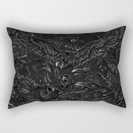 Raven Rage Rectangular Pillow