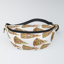 Spicy Meat Pizza Slice Polka Dot Pattern Fanny Pack