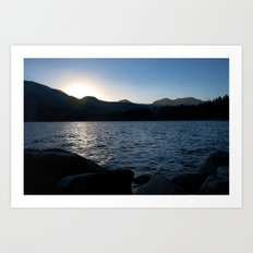 Fallen Leaf Lake at Sunset Art Print