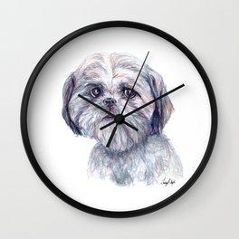 Shih Tzu - Dog Portrait Wall Clock