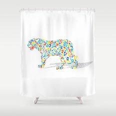 Technicolor Jaguar Shower Curtain