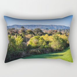 River Bank Trees Rectangular Pillow