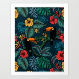 Tropical garden 2 Art Print