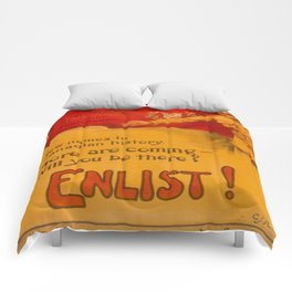 Vintage poster - Canadian Recruiting Comforters