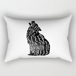 Wolves dont lose sleep over the opinion of sheep - version 1 - no background Rectangular Pillow