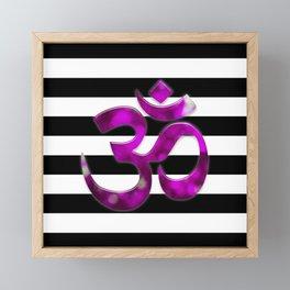 Black & White Stripes Crown Chakra Symbol Framed Mini Art Print