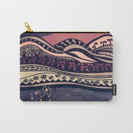Psychedelic mountains (colour option) Carry-All Pouch