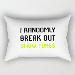 I Randomly Break Out Show Tunes Thespian School Rectangular Pillow