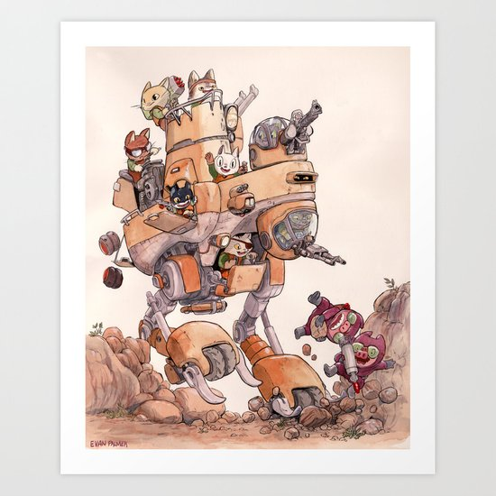The Big Bad Mega Mech Art Print