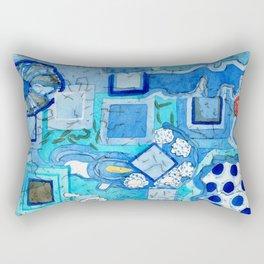 Blue Room with Blue Frames Rectangular Pillow