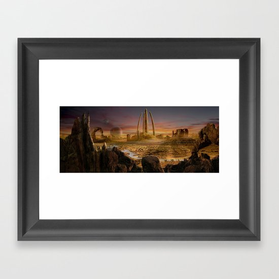Red City Framed Art Print