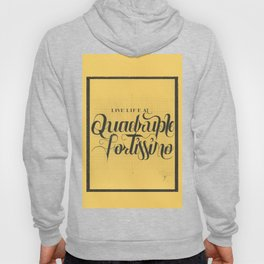 "THE YELLOW COLLECTION — ""QUADRUPLE FORTISSIMO"" Hoody"