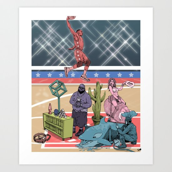 The Dunk Contest Art Print