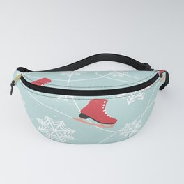 Winter Ice Skating Fanny Pack