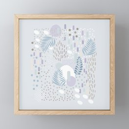Close to Nature - Simple Doodle Pattern 2 #society6 #pattern #nature Framed Mini Art Print