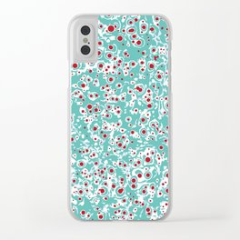 red wild dots Clear iPhone Case