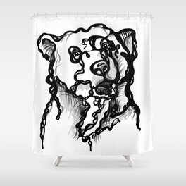 A bear Shower Curtain