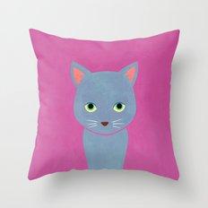 cat -Alice Throw Pillow