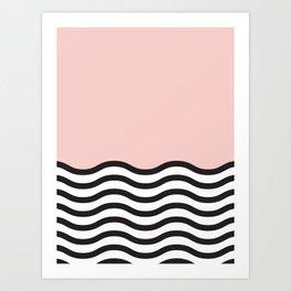 Waves of Pink Art Print