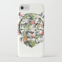 tiger iPhone & iPod Cases featuring Tropical tiger by Robert Farkas