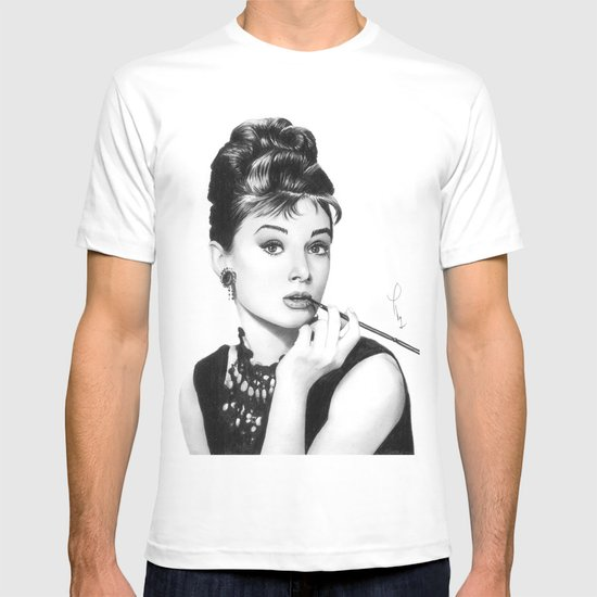 Audrey Hepburn Pencil drawing T-shirt