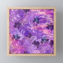 Lavender pink tropical floral watercolor brushstrokes Framed Mini Art Print