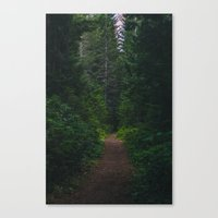 hiking Canvas Prints featuring Hiking by Milli Vedder