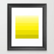shades of Yellow. Framed Art Print