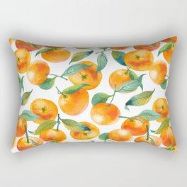 Mandarins With Leaves Rectangular Pillow