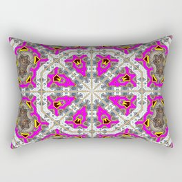 Pink Octagons* Rectangular Pillow
