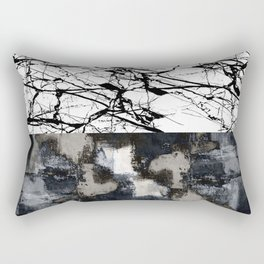 Two Faced - Double abstract patterns, marble and textured Rectangular Pillow