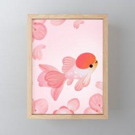 Cherry blossom goldfish Framed Mini Art Print