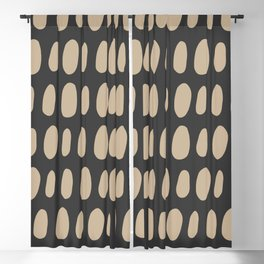 Brush Strokes Gold Blackout Curtain