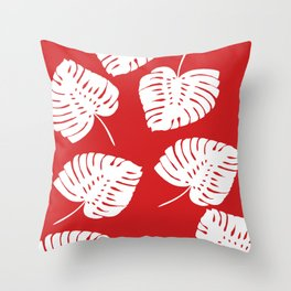Tropical Red Throw Pillow