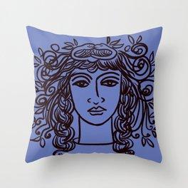 Serpent lady Throw Pillow