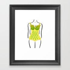 Pineapple One Piece Framed Art Print